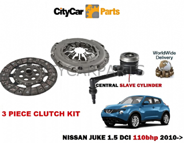 NISSAN JUKE 1.5 DCI K9K 110bhP 1461cc 2010 ONWARDS  CLUTCH KIT WITH SLAVE CYLINDER